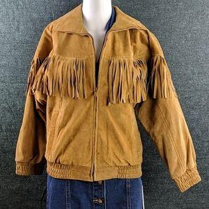 Giacca Suede Fringe Jacket